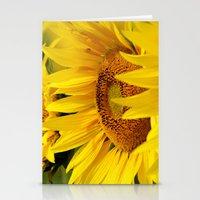 kansas Stationery Cards featuring Kansas Sunflowers by Brad David