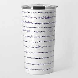 Ocean asemic calligraphy for unique home decoration Travel Mug