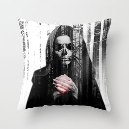 Death Waits Throw Pillow
