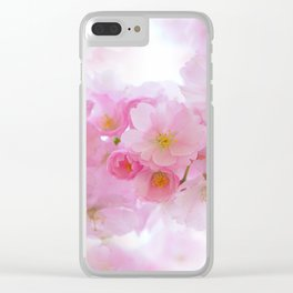 Japanese Cherry Tree Blossom Clear iPhone Case