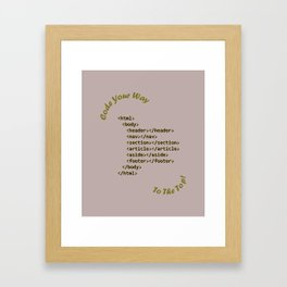 Code Your Way (Light) Framed Art Print
