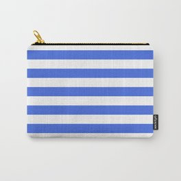 Horizontal stripes / royal blue Carry-All Pouch