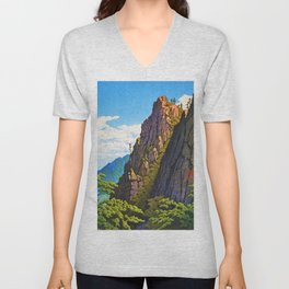The Eight Views Of Korea, Samburam Rock, Kumgang Mountain Unisex V-Neck