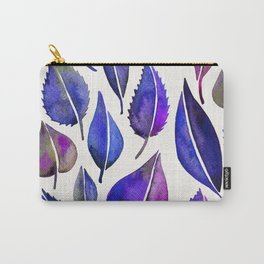 Indigo Leaves Carry-All Pouch
