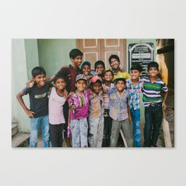 India Sandlot Canvas Print