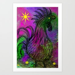 Purple Haze Hen Art Print