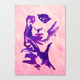 Old Lady Face Canvas Print