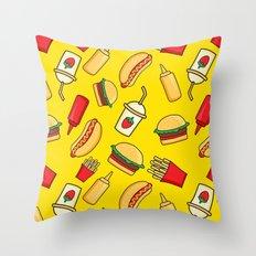 tasty food Throw Pillow