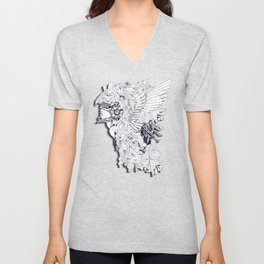 Sikelgaita Lombard Princess in Armor; Adult Coloring  Unisex V-Neck