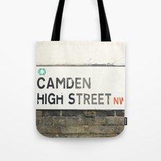 Camden High Street Sign - London Photography Tote Bag