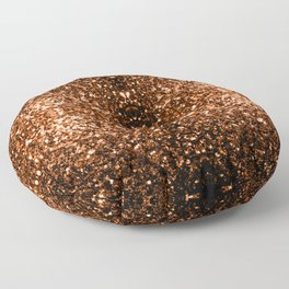 Beautiful Bronze Orange Brown glitters sparkles Floor Pillow