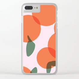Simple Oranges Pattern Version 2 Clear iPhone Case