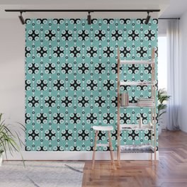 Funky Geo Modern / Teal Geometric Modern Pattern Wall Mural