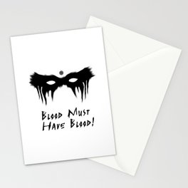 Blood Must Have Blood (English) Stationery Cards