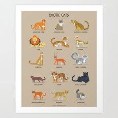 Exotic Cats Art Print