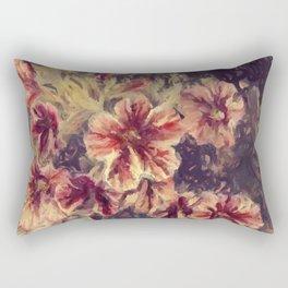 The Painted Flower Rectangular Pillow
