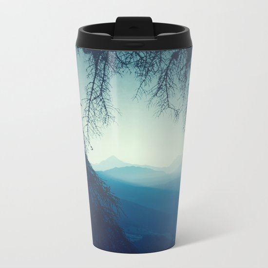 blue morning - vertical tapestry Metal Travel Mug