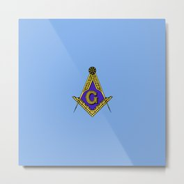 Freemason (Blue) Metal Print