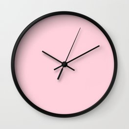 Light Soft Pastel Pink Solid Color Wall Clock