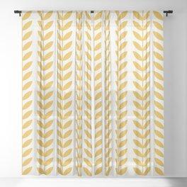 Scandinavian Mid Century Pattern Yellow Sheer Curtain