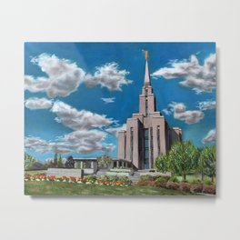 Oquirrh Mountain LDS Temple Metal Print