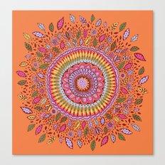 Pumpkin Bloom Canvas Print