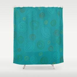Spirales en Folie Shower Curtain