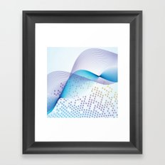 Light Blue Digital Abstract Framed Art Print