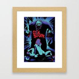 Cock Blocker Framed Art Print