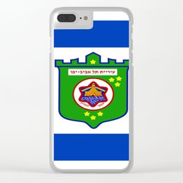 flag of tel aviv Clear iPhone Case