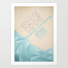 Source Code - minimal poster Art Print