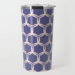 Hand drawn damask circles pattern. Travel Mug