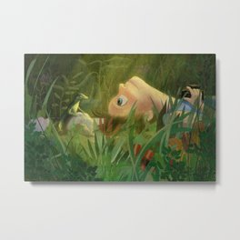 Tiny Friend Metal Print