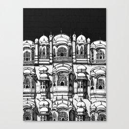 Hawa Mahal (Charcoal) Canvas Print