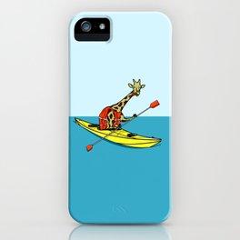 Giraffe Sea Kayaking iPhone Case