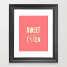 Sweet Dreams & Tea Framed Art Print