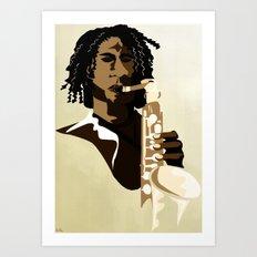 Sax Me Up Art Print