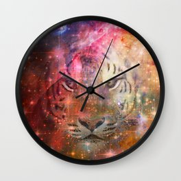 Galactic Tiger  Wall Clock