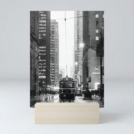 Memories of a streetcar street photography Toronto Downtown Mini Art Print