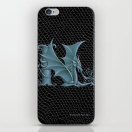 """Dragon Letter N, from """"Dracoserific"""", a font full of Dragons iPhone Skin"""