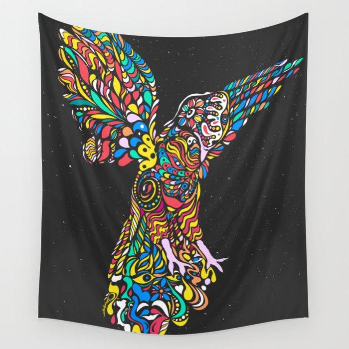 Peruvian bird Gallito de las Rocas Colorful version Wall Tapestry by ...