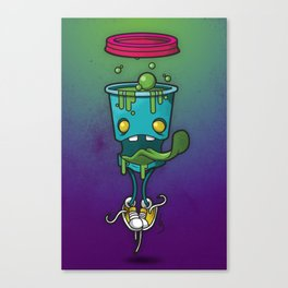 Zombie Coffee Canvas Print