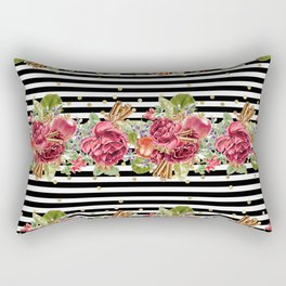 Elegant Christmas - apple, cinnamon & rose Rectangular Pillow