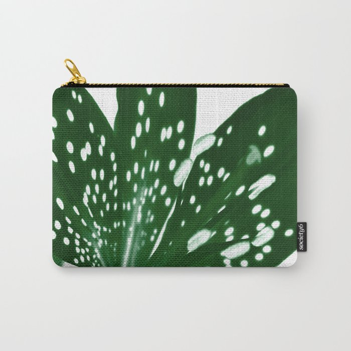 Lily Infrared In Green Carry-All Pouch