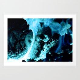 Blue Blaze Art Print