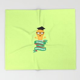 Reading is my Superpower T-Shirt D778b Throw Blanket