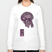 gothic Long Sleeve T-shirts featuring Gothic Skull by AKIKO