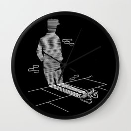 Shadow Cast (black) Wall Clock