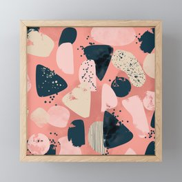 Sea glass pattern Framed Mini Art Print