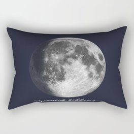 Waxing Gibbous Moon on Navy English Rectangular Pillow